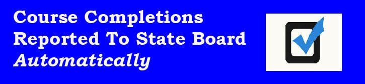 Automatic State Board Notification of Course Completion